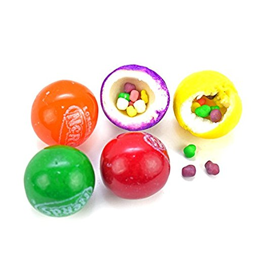 Gumballs With Nerds 2 Pounds Assorted Colors