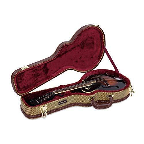 Crossrock Deluxe Wood Hard Case for F-style Mandolin, Tweed(CRW600MFTW)