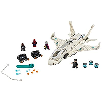 LEGO Marvel Spider Man Far From Home: Stark Jet and the Drone Attack 76130 Building Kit (504 Pieces): Toys & Games