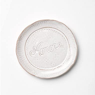 Vietri Bellezza White Amore Plate - Available In White Only