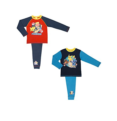Price comparison product image Cartoon Character Products 2 Pack Boys Pokemon Pyjamas Size 5-12 Years - 7-8 years / 122-128 cm