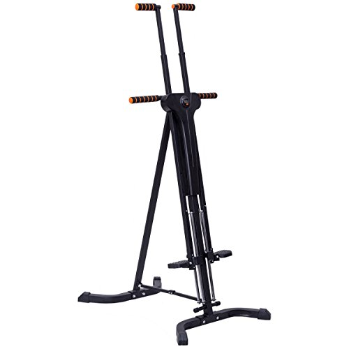 Goplus Vertical Climber Folding Stepper Adjustable Height with LED Display Climbing Fitness Workout Machine Home Gym by Goplus