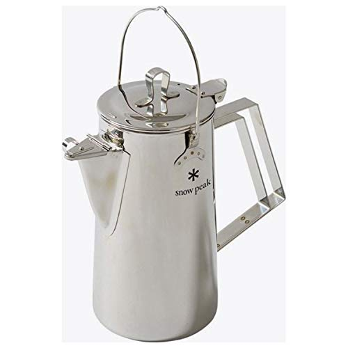 Snow Peak Men's Stainless Steel Upright Kettle, Stainless Steel, Silver, One Size ()