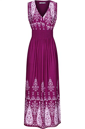 Maxi Print Dress Shoulder Paisley Violet Chevron 2LUV Women's Tie BIaXqw4