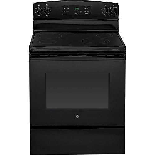 GE JBS60DKBB 30-Inch 5.3 Cu. Ft. Free-Standing Electric Range, Black (Clean Electric Ranges Freestanding Standard)