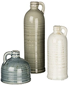 Sullivans Decorative Jugs Set of 3, Grey,  (Country Home Accents)