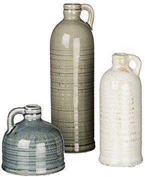 Sullivans Decorative Jugs Set of 3, Grey,  (Vases Decor)
