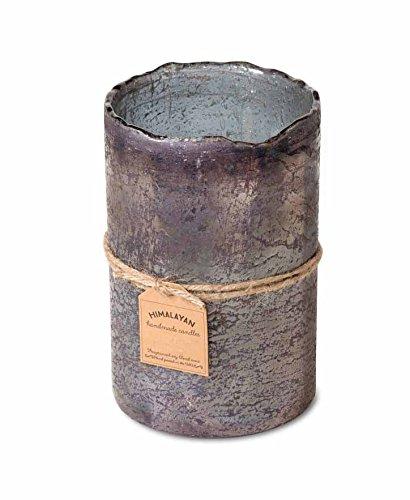Himalayan Candles Trading Post Smoky Grey Hurricane Candle, Grapefruit Pine, 32 - Pine Antique Wax
