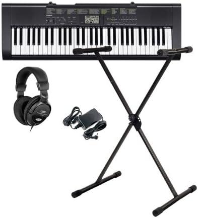 Casio CTK-1100 Keyboard Set con fuente, auriculares y soporte