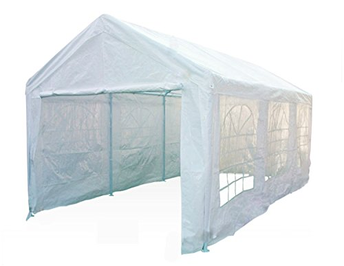Heavyduty White Tarp Poly Tarpaulin Canopy Tent Shelter Car Multi Purpose by BONNILY