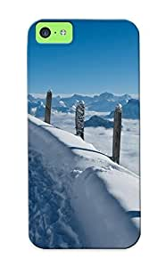 Graceyou Case Cover Landscapes Roads Winter Snow Clouds Fog Sky / Fashionable Case For ipod touch4