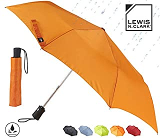 Lewis N. Clark Windproof and Water Repellent Travel Umbrella, Orange (B00GFU6DEQ) | Amazon Products