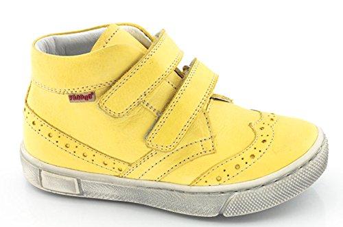 FRODDO Schuhe Knöchel- Sneaker Halbschuhe gelb Budapester Style Klett
