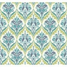 (York Wallcoverings MS6425 Modern Shapes Basilica Wallpaper, White, Aqua, Blue, Teal, Yellow/Green)