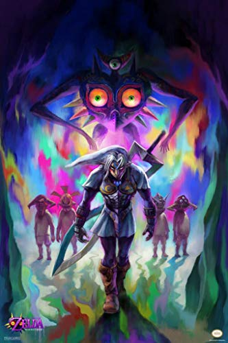 Pyramid America Laminated The Legend of Zelda Majoras Mask Fierce Diety Link Nintendo Sign Poster 12x18 inch (Legend Of Zelda Ocarina Of Time 3ds Price)