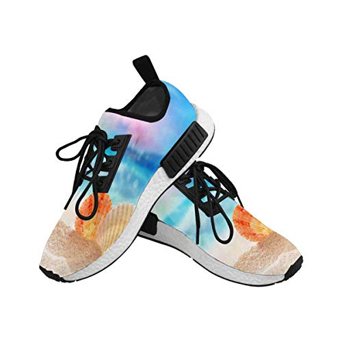 InterestPrint Women's Draco Running Comfort Sports Athletic Shoes Seashells on The Sandy Beach 6 B(M) US by InterestPrint