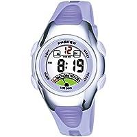 Kids Watch 30M Waterproof Sport LED Alarm Stopwatch Digital Child Wristwatch for Boy Girl Gift Light Purple
