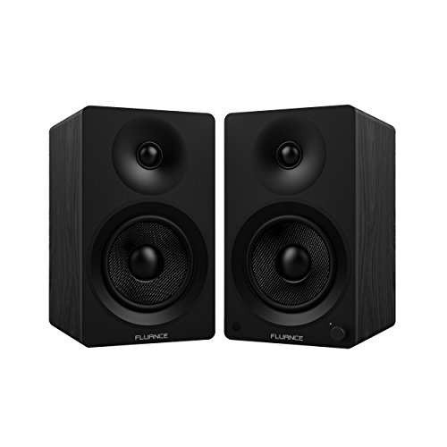 Fluance Ai40 Powered Two-Way 5″ 2.0 Bookshelf Speakers with 70W Class D Amplifier for Turntable, PC, HDTV & Bluetooth aptX Wireless Music Streaming (Black Ash)