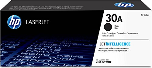 Hewlett Packard Color Laserjet 1600 - HP 30A (CF230A) Black Toner Cartridge for HP Color Laserjet M203 M227