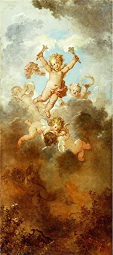 [Oil Painting 'Jean-Honore Fragonard - The Progress Of Love - Love Triumphant, 1790-91' Printing On Perfect Effect Canvas , 16x36 Inch / 41x91 Cm ,the Best Foyer Gallery Art And Home Gallery Art And Gifts Is This Reproductions Art Decorative Canvas] (White Trash Costume Ideas Pictures)