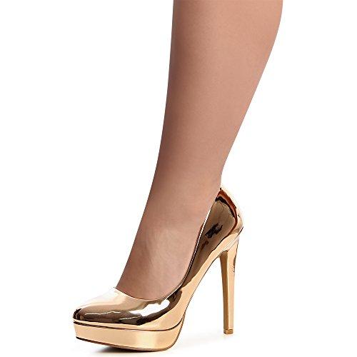 Pompes Rose Heels Or Femmes Topschuhe24 Sky RPBYx