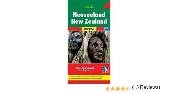 Nueva Zelanda, mapa de carreteras. Escala 1:700.000. Freytag ...