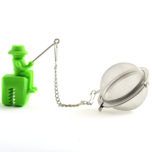 Norpro 5649 Stainless Steel and Silicone Fisherman Tea Infuser, 2