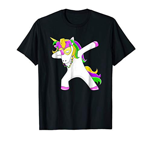 Mardi Gras Shirt Unicorn Dabbing Party Apparel for $<!--$15.95-->