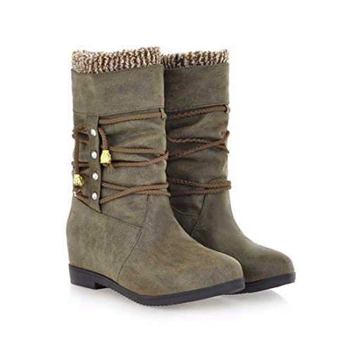 The winter boots code cross straps high tube cotton boots and cashmere CASUAL BOOTS Green 0a8eHFod