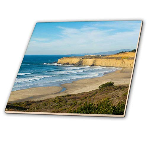Carmel Tile - 3dRose Danita Delimont - California - Pacific Coast Highway 1, California, near Carmel cliffs and waves - 4 Inch Ceramic Tile (ct_314601_1)