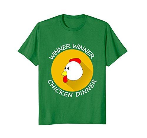 - Mens Winner winner chicken dinner Tshirt Small Kelly Green