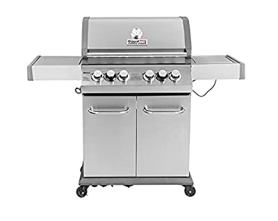 Royal Gourmet 550 4-Burner Cabinet Propane Gas Grill,BBQ Outdoor Grill with Side Burner,Stainless Steel