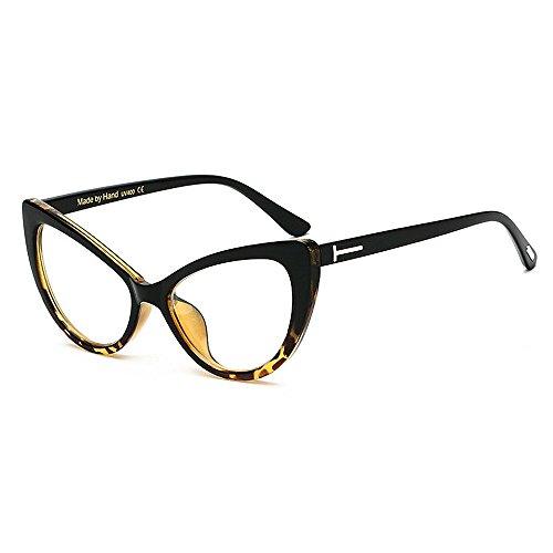 de Gafas sol borde Gafas lente transparente de de sol de de con la PC retro Cat clásicas Gafas de grandes mujer para Print Animal Eyes T con la sol conducción sol de de Marco con Rivet Gafas sol personalidad Gafas wSgZOqnwT6