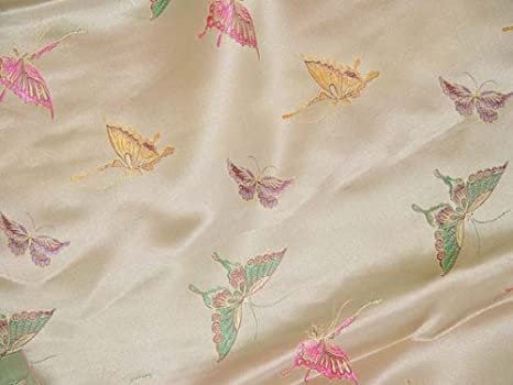Amazon.com: Chino Brocade tela de raso (Butterfly): Home ...