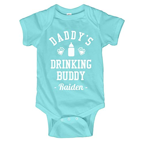 FUNNYSHIRTS.ORG Daddy's Drinking Buddy Raiden: Infant Bodysuit