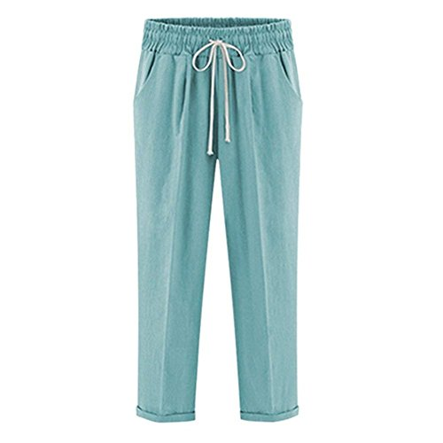 Elastische Confortable Large Casual La Bretelles Unicolore Loisirs Élégant Femme Avec Pantalons Longs Plus Harem Eté Taille Jolis Mode Croisées HEqwn67n