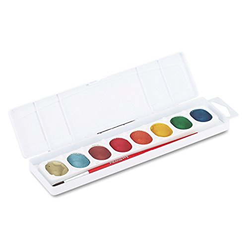 Prang Products - Prang - Metallic Washable Watercolors, 8 Assorted Colors - Sold As 1 Each - Rich and intense metallic watercolors that children prefer!. - Washable formula easily comes off hands and nearly all children's clothing. - Includes a professional-quality, natural hair #9 brush.