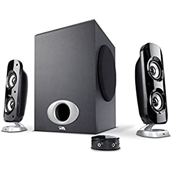 76W Computer Speakers with Subwoofer, a Powerful 2.1 Multimedia Speakers for Gaming, Music, and Movies - By Cyber Acoustics (CA-3810)