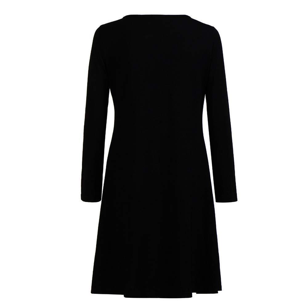 Yvelands Robe De No/ëL Coupe Slim Robes Femme Col Rond Robes Impression De No/ëL Swing Robe