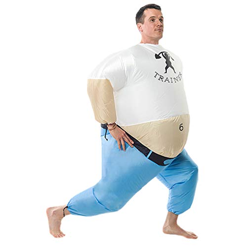 Personal Trainer Inflatable Giant Costume Halloween Carnival Cosplay Toy Family Trick Party Off-White