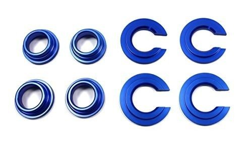 BlackPath - 240SX + 300ZX + 200SX + Maxima Rear Subframe Bushing Collars Nissan S12 + S13 + S14 + Z32 + J30 (Blue) T6 Billet