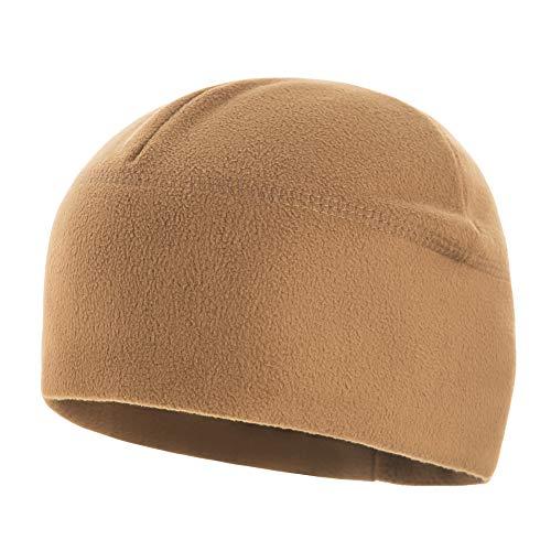 - Winter Hat Windproof Fleece 295 Mens Military Watch Skull Cap Tactical Beanie (Coyote Brown, Medium)