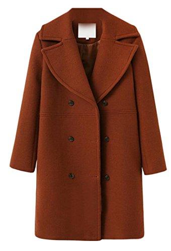 amp;S Long Warm Double Winter Women's Outwear Coat amp;W M Jacket Lapel 1 Breasted U1qd88a