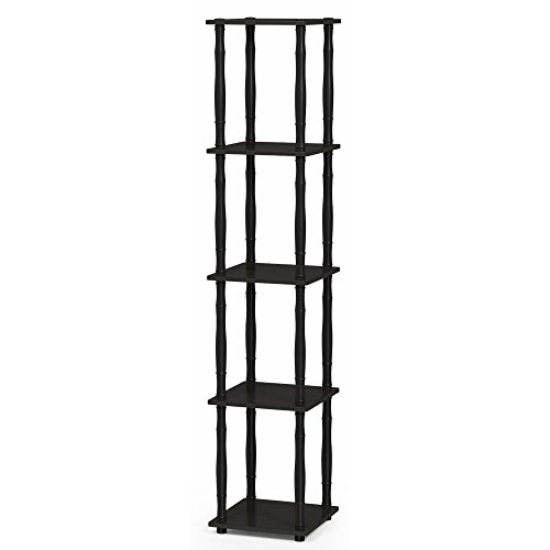 Furinno 18033EX/BK Turn-N-Tube Rack, Classic, Espresso/Black