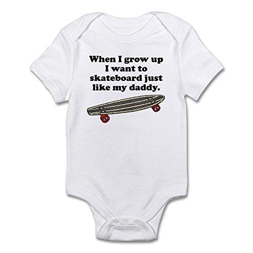 CafePress - Skateboard Like My Daddy Body Suit - Cute Infant Bodysuit Baby Romper