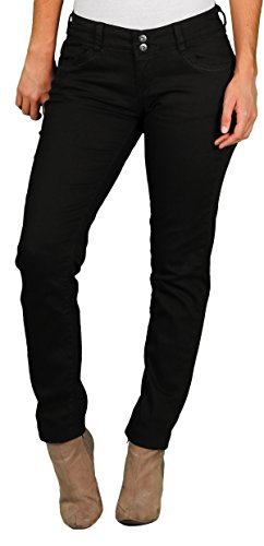 Unionbay Juniors Lucy Stretch Twill 2-Button Skinny Pant, Black, 11