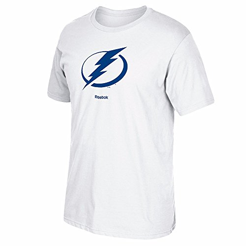 Reebok NHL Tampa Bay Lightning Men's Jersey Crest Tee, Medium, (Mens Nhl T-shirts)