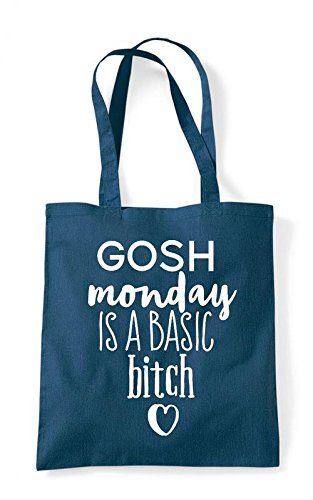 Petrol Tote Shopper Gosh Basic Statement A Is Bitch Monday Bag nqOwzpUq