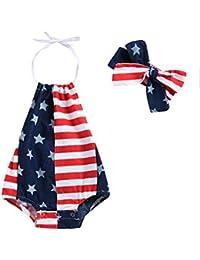 VISGOGO Newborn Kids Baby Girl Denim Romper Jumpsuit Playsuit Long Sleeve Outfits Clothes