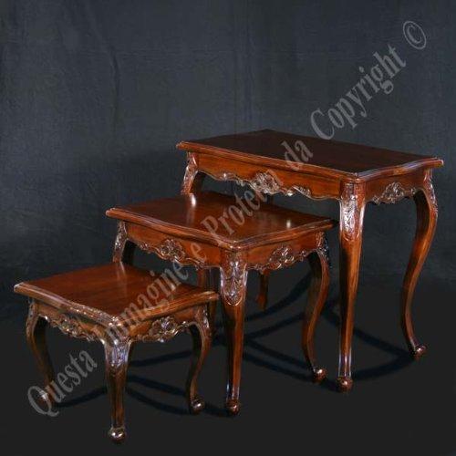 Couchtische Tris cm 63x37 h 55 - Holz, Antik, Klassisch, Italienischer Produktion